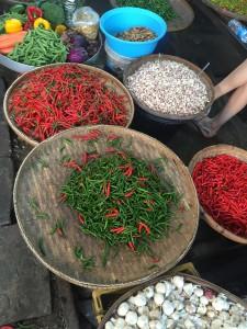 Maeklong Railway Market chilli thailand fresh produce