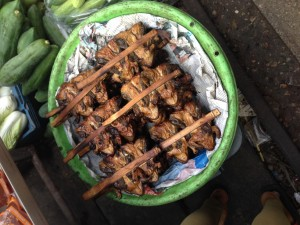 maeklong rail market bangkok thailand frogs skelly