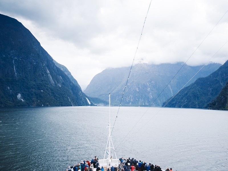 Milford sound new zealand ms noordam cruise entry