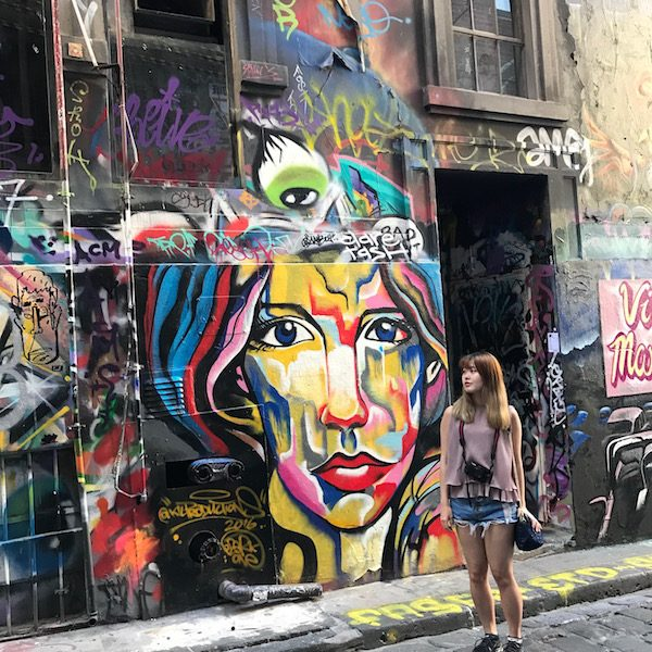 graffiti art hosier lane melbourne flinders lane pop colour photo susan skelly