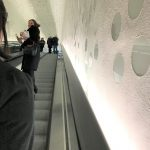 sequinned escalator Elbphilharmonie grand concert hall hamburg to the plaza photo susan skelly