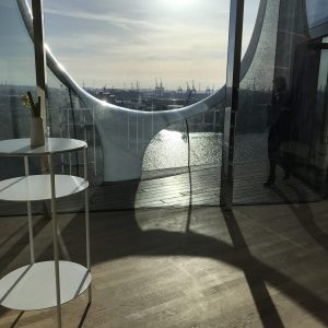 Elbphilharmonie Interior Elbe river views hafencity hamburg sleek preconcert drink photo susan skelly