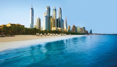 One And Only Royal Mirage dubai beachfront city backdrop