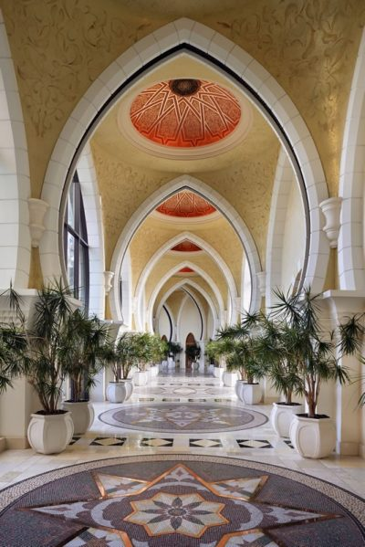 One-And-Only-Royal-Mirage Resort Architectural Detail Arabian Court Grand Gallery