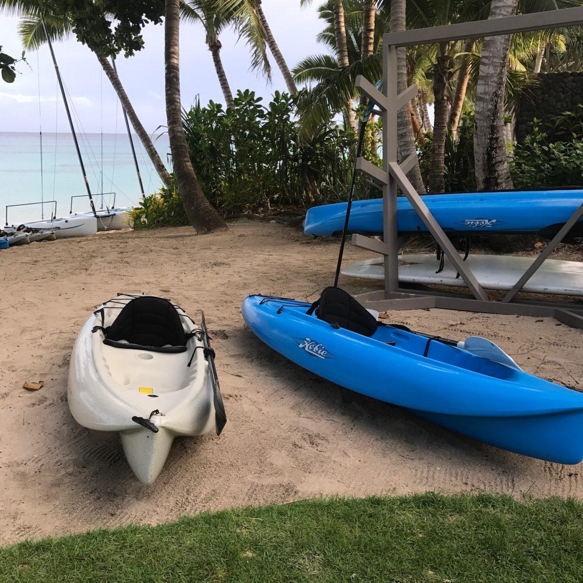 watersports kokomo island fiji action paddle kayak skelly