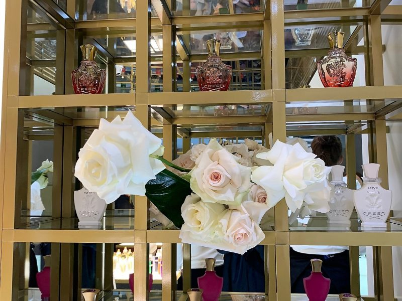 creed perfume shelving grid sydney store double bay skelly